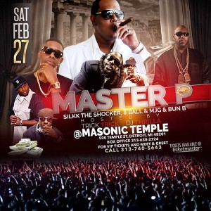 MASTER P, SILKK THE SHOCKER, BUN B and MORE LIVE DETROIT FEB 27TH