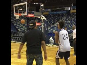 Master P & Buddy Love Go Head To Head in a Three Point Shootout