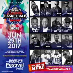MASTER P & TEAM HOPE NOLA HOSTS CELEBRITY BASKETBALL GAME – GET TICKETS