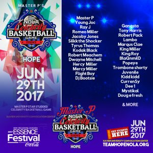 MASTER P's STAR STUDDED CELEBRITY BASKETBALL GAME JUNE 29TH ROSTER