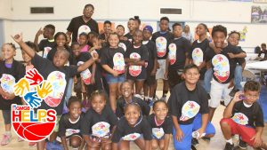 GMGB and Master P gives a back to school event to kids in Watts,California.