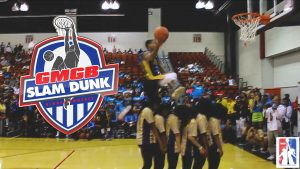 GUY DUPUY BRINGS IT AND WINS THE GMGB SLAM DUNK CONTEST THE FIRST CO-ED PRO-BASKETBALL DUNK CONTEST