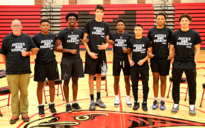 HERCY MILLER AND CHET HOLMGREN MINNEHAHA ACADEMY BASKETBALL PLAYERS STAND UP ON JUSTICE AND EQUALITY