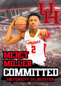 MERCY MILLER MINNEHAHA SOPHOMORE CLASS OF 2024 BASKETBALL SUPERSTAR HAS MADE AN EARLY COMMITMENT WITH THE UNIVERSITY OF HOUSTON